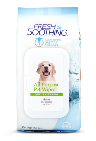 Fresh and Soothing All Purpose Pet Wipes Front