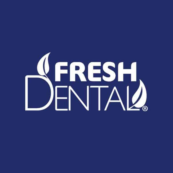 Fresh Dental Logo Blue Background