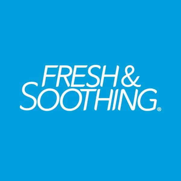 Fresh & Soothing Logo Blue Background