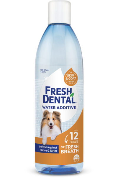 Naturel Promise Fresh Dental Water Additive For Dogs Plus Skin And Coat Supplements